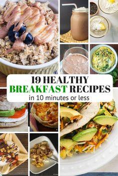 Nineteen Healthy Breakfast Recipes in Ten Minutes or Less - Slender Kitchen