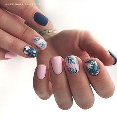– Trending Summer Nail Designs For Short Nails – Nail Art Connect – Nail Art Ideas 2020 Cute Acrylic Nails, Acrylic Nail Designs, Cute Nails, Pretty Nails, Nail Art Designs, Gel Nails, Nails Design, Nail Polish, Nail Nail
