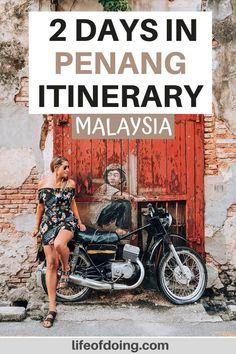 Malaysia Itinerary, Malaysia Travel Guide, Travel Guides, Travel Tips, Travel Goals, Travel Destinations, Street Food, Street Art, Penang Hill