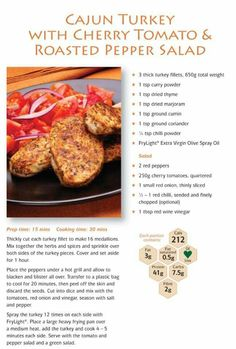 Yum Sp Days, Meal Ideas, Food Ideas, Cajun Turkey, Ground Coriander, Slimming World Recipes, Curry Powder, Cherry Tomatoes