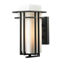 ELK Lighting Croftwell 4508 1-Light Outdoor Wall Sconce - 45085/1-LED, Durable