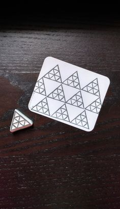 Triangle stamp, multiple triangles, handmade stamp, perfect for scrapbooking and gift decoration