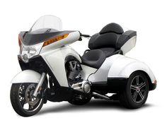 white trike motorcycle