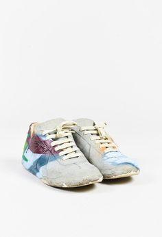 Maison Martin Margiela Grey Multicolor Graffiti Sneakers