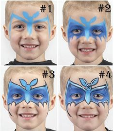 Tricks & Treats for Little Monsters Halloween Clown, Halloween Make Up, Bat Face Paint, Childrens Makeup, Step By Step Painting, Little Monsters, Trick Or Treat, Face And Body, Creepy