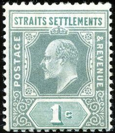 1902 (April-03) SG110 Old Stamps, Rare Stamps, Strait Of Malacca, Straits Settlements, Crown Colony, Cocos Island, Labuan, Christmas Island, Southeast Asia