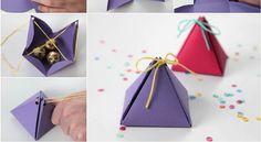 Comment fabriquer une jolie boite cadeau! - Trucs et Bricolages