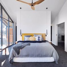 Better late than never! @jasonsarahblock's Master bedroom wowed the Judges. Well done guys - you got there! #9theblock #bedroom #roomreveals http://ift.tt/2x91gar