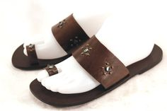 THE GAP Brown Leather and Jeweled Sandals in Ladies 7M - Marla's List Boutique