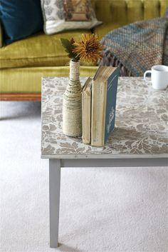 Stenciled Coffee Table 5 - offbeat + inspired