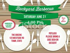 Backyard Bbq Printable Invitation Template Customize Add Text