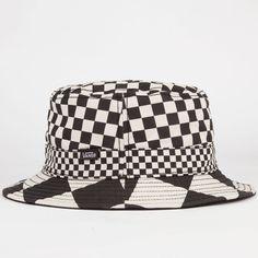 VANS Checker Mens Bucket Hat - BLKWH - VN-0V4PCT8 5e5f7ca890c