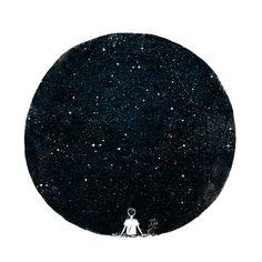 Little Oil Art — stars hang on the sky stars on the ground stars in...