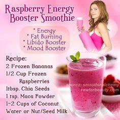 Raspberry energy booster smoothie