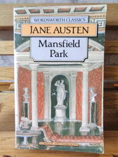 Vintage paperback book Mansfied Park Jane Austen fiction book historical satire romance romantic novel of manners social society Fanny Price by TrooperslaneBooks on Etsy