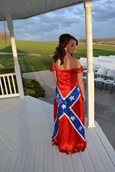 Rebel flag dress would be an awesome wedding dress!