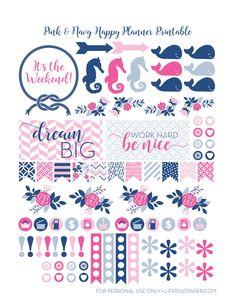 10+ Pretty Planner Printables | www.dawnnicoledesigns.com