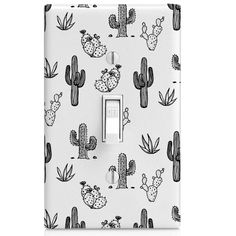 Light Switch Cover Cactus Doodle Pattern by SwitchCoverSupply Switch Plate Covers, Light Switch Covers, Switch Plates, Doodle Patterns, Print Patterns, Cactus Bedroom, Cactus Doodle, Doodle Wall, Cactus Decor