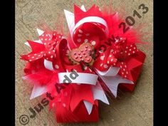 How to make a 5 inch boutique stacked hair bow
