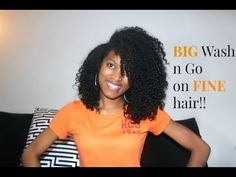 How to get a BIG wash n go|NATURAL HAIR - YouTube