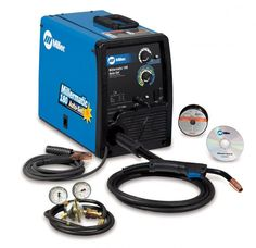 Miller® Millermatic® 180 Auto-Set™ MIG Welder 230Volt With M-100 MIG Gun With 10' Leads, Regulator And Hose, 6' Power Cord With Plug