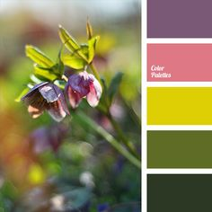 Delicate spring colours of this palette will look good in living room or bedroom, especially in the textile decor..