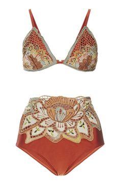 Agua de Coco Embroidered Triangle Bikini Top, $230; modaoperandi.com Agua de…
