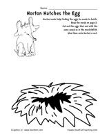 Dr Seuss Word Family Worksheet Horton Hatches The EggDr