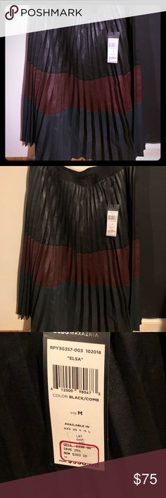 52ad78a463c BCBG Maxazria Tri- Color Leather Pleated Skirt Authentic BCBG Maxazria  Leather Tri-Color Skirt Brand New With Tags Size Medium Full Length Past  Knee Great ...