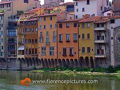 Florence, Italy - Lungarno near Ponte Vecchio