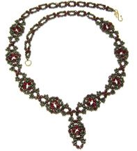 Venetian Necklace Pattern at Sova-Enterprises.com. Lots of free beading patterns and tutorials are available on this site!