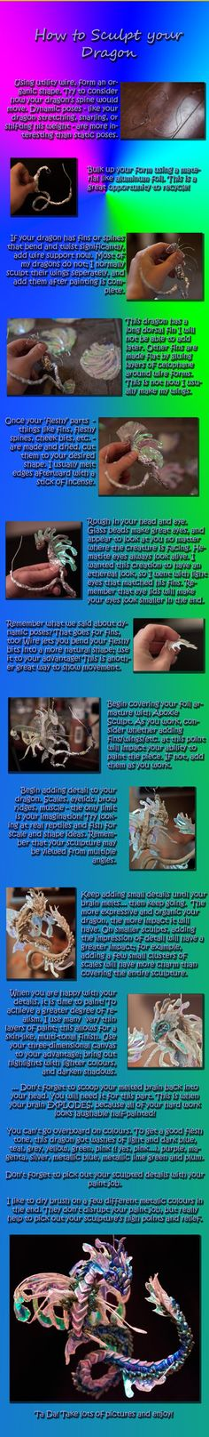 Dragon Sculpture Tutorial by ~QuinapalusTheFool on deviantART