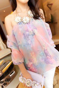 chiffon shirt- http://zzkko.com/n189253-merica-Dolls-Bra-strapless-chiffon-shirt-Korean-women-summer-short-sleeved-blouse-on-clothes-cultivating-small-tidal-7.19.html $14.17