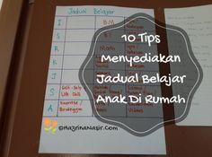 Tips untuk parents menyediakan jadual belajar anak di rumah