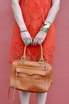 Bohemian Vintage Orange and Blue