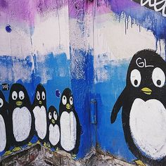 #penguins and #streetart? Best combination