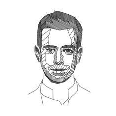 Jack Dorsey Twitter CEO geometric portrait