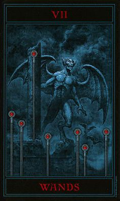 The Gothic Tarot ► Seven of Wands