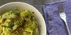 Recipe of the day: Tagliatelle with Broccoli Pesto - http://www.italianyummy.com/italianyummy/tagliatelle-with-broccoli-pesto/