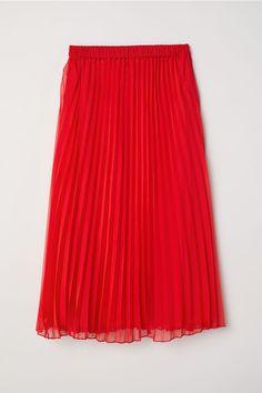Plisserad kjol - Röd - | H&M SE 3
