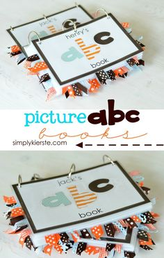 picture abc books | simplykierste.com These are SO darling - and would be fun to make with vacation memory ABCs. :)