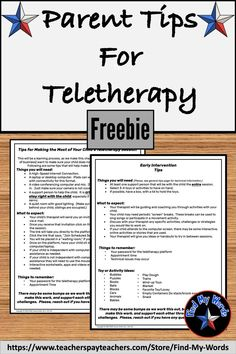 Need an easy handout to give parents as you prepare for teletherapy or distance learning. These free handouts give general technical tips and expectations, and one focuses on the early intervention population. Speech Activities, Speech Therapy Activities, Speech Language Pathology, Speech And Language, Motor Activities, Pediatric Occupational Therapy, Early Intervention, School Psychology, Parenting