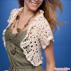 bolero and more crochet T-shirt Au Crochet, Cardigan Au Crochet, Pull Crochet, Gilet Crochet, Crochet Shirt, Crochet Jacket, Crochet Woman, Bolero Crochet, Crochet Shrugs