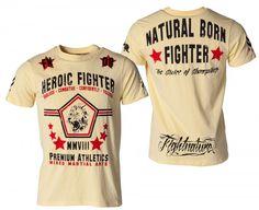 "Fightnature T-Shirt ""Heroic Fighter"" gelb"