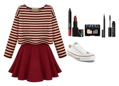 """""""Untitled #34"""" by lolzormalum ❤ liked on Polyvore featuring Converse and NARS Cosmetics"""