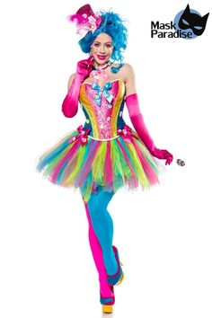 Lady Candy clown costume for women colorful, cheap carnival costumes at Carnival Megastore - Mardigras Candy Costumes, Mardi Gras Costumes, Cute Halloween Costumes, Carnival Costumes, Halloween Cosplay, Candy Girls, Clown Costume Women, Girl Costumes, Costumes For Women