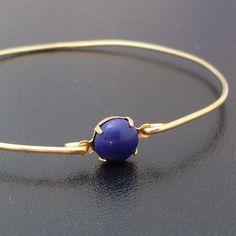 Nautical Blue Bangle Bracelet Marlisa  Gold by FrostedWillow, $12.95