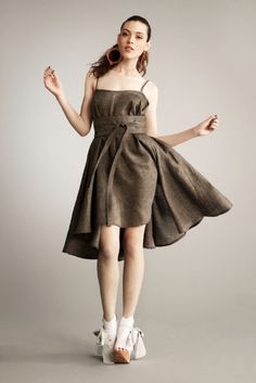 Full Circle Dress with Spaghetti Straps by MsWood on Etsy, $253.00