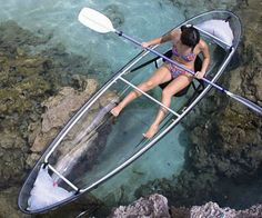 "See Through Bottom Canoe; Not really a ""home idea"", but the lake is close to my home!"