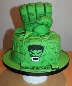 Hulk Birthday Cake Example